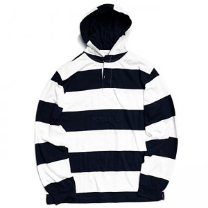 <img class='new_mark_img1' src='//img.shop-pro.jp/img/new/icons5.gif' style='border:none;display:inline;margin:0px;padding:0px;width:auto;' />HORRIBLE'S HOODED RUGBY SHIRT / NAVY×WHITE (ホリブルズ ラガーフーディー/シャツ)