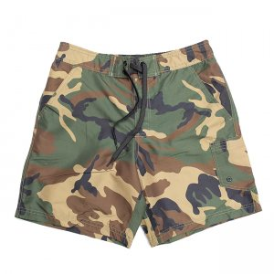 <img class='new_mark_img1' src='//img.shop-pro.jp/img/new/icons5.gif' style='border:none;display:inline;margin:0px;padding:0px;width:auto;' />CAMOUFLAGE SWIM SHORT PANTS / WOODLAND CAMO (カモフラージュ柄スイムショーツ/ショートパンツ)