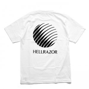<img class='new_mark_img1' src='//img.shop-pro.jp/img/new/icons5.gif' style='border:none;display:inline;margin:0px;padding:0px;width:auto;' />HELLRAZOR LOGO SHIRT / WHITE (ヘルレイザー Tシャツ)