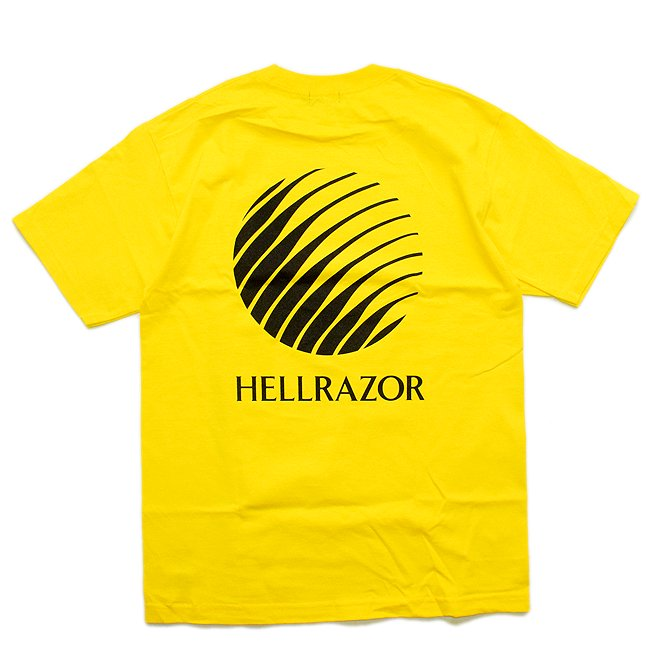 <img class='new_mark_img1' src='//img.shop-pro.jp/img/new/icons5.gif' style='border:none;display:inline;margin:0px;padding:0px;width:auto;' />HELLRAZOR LOGO SHIRT / YELLOW (ヘルレイザー Tシャツ)