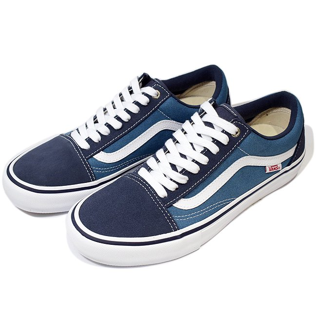 <img class='new_mark_img1' src='//img.shop-pro.jp/img/new/icons5.gif' style='border:none;display:inline;margin:0px;padding:0px;width:auto;' />VANS OLD SKOOL PRO 【PRO】/ NAVY/STV NAVY/WHITE (バンズ/ヴァンズ プロスケート スニーカー)