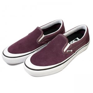 <img class='new_mark_img1' src='//img.shop-pro.jp/img/new/icons5.gif' style='border:none;display:inline;margin:0px;padding:0px;width:auto;' />VANS SLIP-ON PRO 【PRO】/ RAISIN/WHITE (バンズ/ヴァンズ スリッポンプロ スニーカー)