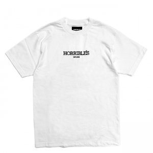 <img class='new_mark_img1' src='//img.shop-pro.jp/img/new/icons5.gif' style='border:none;display:inline;margin:0px;padding:0px;width:auto;' />HORRIBLE'S SOLID LOGO T-SHIRT / WHITE (ホリブルズ Tシャツ)