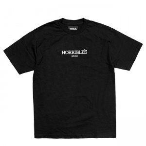 <img class='new_mark_img1' src='//img.shop-pro.jp/img/new/icons5.gif' style='border:none;display:inline;margin:0px;padding:0px;width:auto;' />HORRIBLE'S SOLID LOGO T-SHIRT / BLACK (ホリブルズ Tシャツ)