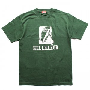 <img class='new_mark_img1' src='//img.shop-pro.jp/img/new/icons5.gif' style='border:none;display:inline;margin:0px;padding:0px;width:auto;' />HELLRAZOR WAITING FOR A CALL T-SHIRT / FOREST GREEN (ヘルレイザー Tシャツ)