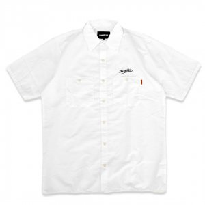 <img class='new_mark_img1' src='https://img.shop-pro.jp/img/new/icons5.gif' style='border:none;display:inline;margin:0px;padding:0px;width:auto;' />HORRIBLE'S SCRIPT WORK SHIRT / WHITE (ホリブルズ 半袖ワークシャツ)