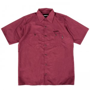 <img class='new_mark_img1' src='https://img.shop-pro.jp/img/new/icons5.gif' style='border:none;display:inline;margin:0px;padding:0px;width:auto;' />HORRIBLE'S SCRIPT WORK SHIRT / WINE (ホリブルズ 半袖ワークシャツ)