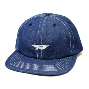 <img class='new_mark_img1' src='//img.shop-pro.jp/img/new/icons5.gif' style='border:none;display:inline;margin:0px;padding:0px;width:auto;' />BENNY GOLD PAPER PLANE INDIGO DENIM POLO CAP (ベニーゴールド 6パネルポロキャップパンツ)