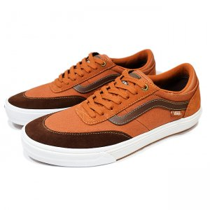 <img class='new_mark_img1' src='https://img.shop-pro.jp/img/new/icons5.gif' style='border:none;display:inline;margin:0px;padding:0px;width:auto;' />VANS GILBERT CROCKETT PRO 2 【PRO】/ LEATHER BROWN/POTTING SOIL (バンズ/ヴァンズ プロスケート スニーカー)