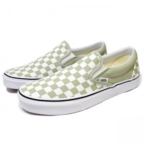 <img class='new_mark_img1' src='//img.shop-pro.jp/img/new/icons5.gif' style='border:none;display:inline;margin:0px;padding:0px;width:auto;' />VANS CLASSIC SLIP-ON / (checkerboard) DESERT SAGE/TRUE WHITE (バンズ/ヴァンズ スリッポン スニーカー)
