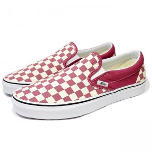 <img class='new_mark_img1' src='//img.shop-pro.jp/img/new/icons5.gif' style='border:none;display:inline;margin:0px;padding:0px;width:auto;' />VANS CLASSIC SLIP-ON / (checkerboard) DRY ROSE/WHITE (バンズ/ヴァンズ スリッポン スニーカー)