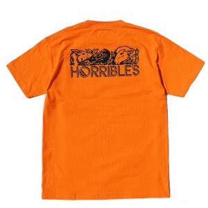 <img class='new_mark_img1' src='//img.shop-pro.jp/img/new/icons5.gif' style='border:none;display:inline;margin:0px;padding:0px;width:auto;' />HORRIBLE'S LIFE POCKET T-SHIRT / ORANGE (ホリブルズ Tシャツ)
