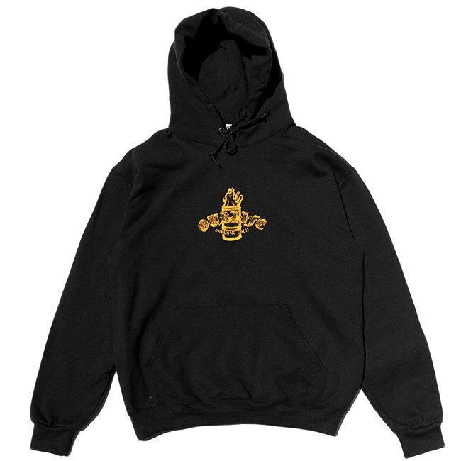 <img class='new_mark_img1' src='//img.shop-pro.jp/img/new/icons5.gif' style='border:none;display:inline;margin:0px;padding:0px;width:auto;' />OUR LIFE IGNITION BARREL PULLOVER HOODIE  / BLACK (アワーライフ フーディ/パーカー/スウェット)