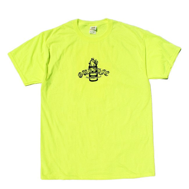 <img class='new_mark_img1' src='//img.shop-pro.jp/img/new/icons5.gif' style='border:none;display:inline;margin:0px;padding:0px;width:auto;' />OUR LIFE IGNITION BARREL TEE / SAFETY GREEN (アワーライフ TEE/Tシャツ)