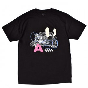 <img class='new_mark_img1' src='https://img.shop-pro.jp/img/new/icons5.gif' style='border:none;display:inline;margin:0px;padding:0px;width:auto;' />QUASI TOAD-AL WAR TEE / BLACK (クアジ Tシャツ/半袖)