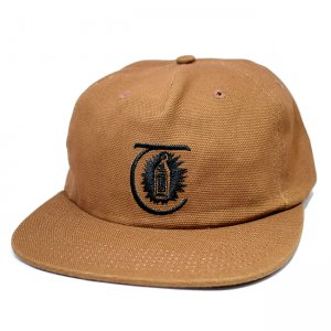 <img class='new_mark_img1' src='//img.shop-pro.jp/img/new/icons57.gif' style='border:none;display:inline;margin:0px;padding:0px;width:auto;' />THEORIES LANTERN DUCK CANVAS VELCRO 5PANEL CAP / BROWN(セオリーズ ダックキャンバス キャップ/5パネルキャップ)