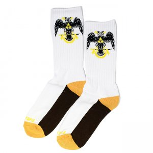 <img class='new_mark_img1' src='https://img.shop-pro.jp/img/new/icons55.gif' style='border:none;display:inline;margin:0px;padding:0px;width:auto;' />THEORIES 33rd Degrees SOCKS / WHITE (セオリーズ  ソックス/靴下)