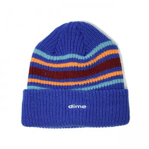 <img class='new_mark_img1' src='//img.shop-pro.jp/img/new/icons5.gif' style='border:none;display:inline;margin:0px;padding:0px;width:auto;' />DIME STRIPED BEANIE / BLUE (ダイム ニットキャップ / ビーニー)