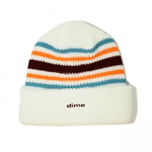 <img class='new_mark_img1' src='//img.shop-pro.jp/img/new/icons5.gif' style='border:none;display:inline;margin:0px;padding:0px;width:auto;' />DIME STRIPED BEANIE / WHITE (ダイム ニットキャップ / ビーニー)