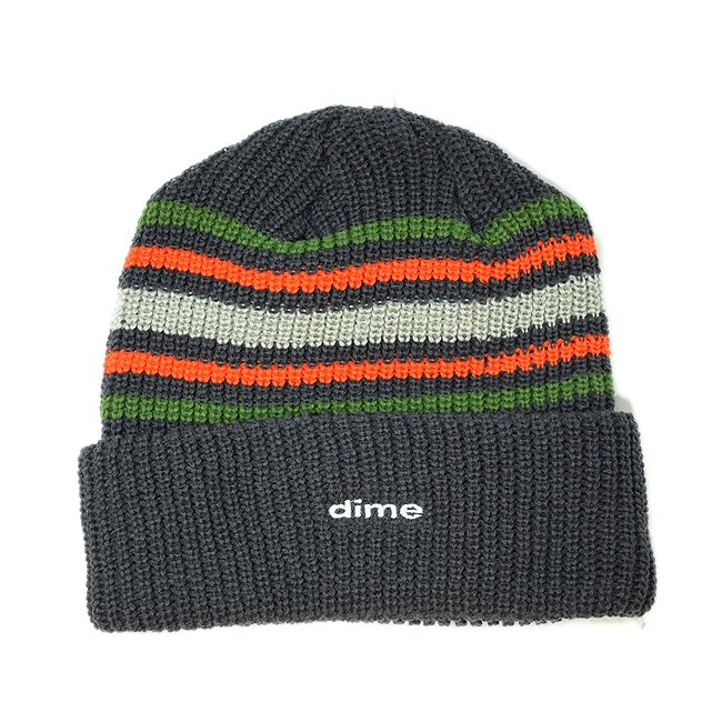 <img class='new_mark_img1' src='//img.shop-pro.jp/img/new/icons5.gif' style='border:none;display:inline;margin:0px;padding:0px;width:auto;' />DIME STRIPED BEANIE / CHARCOAL (ダイム ニットキャップ / ビーニー)