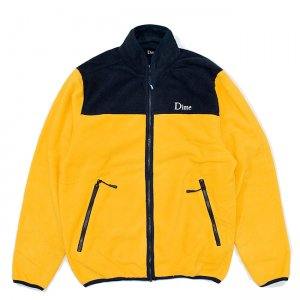 <img class='new_mark_img1' src='//img.shop-pro.jp/img/new/icons5.gif' style='border:none;display:inline;margin:0px;padding:0px;width:auto;' />DIME FLEECE JACKET / YELLOW (ダイム フリース / ジャケット)