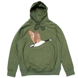 <img class='new_mark_img1' src='//img.shop-pro.jp/img/new/icons5.gif' style='border:none;display:inline;margin:0px;padding:0px;width:auto;' />GRAND COLLECTION GOOSE SOUVENIR EMBROIDERED HOODIE / OLIVE (グランドコレクション スウェット/パーカー)