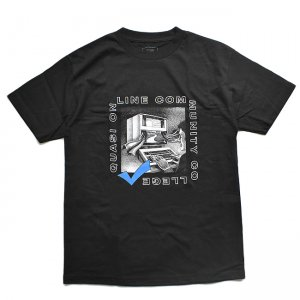 <img class='new_mark_img1' src='//img.shop-pro.jp/img/new/icons5.gif' style='border:none;display:inline;margin:0px;padding:0px;width:auto;' />QUASI ONLINE TEE / BLACK (クアジ Tシャツ/半袖)
