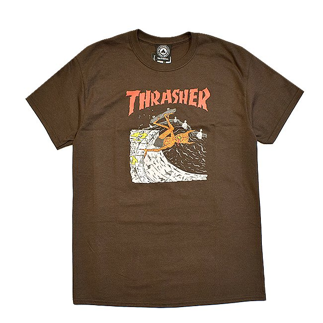 <img class='new_mark_img1' src='//img.shop-pro.jp/img/new/icons5.gif' style='border:none;display:inline;margin:0px;padding:0px;width:auto;' />THRASHER NECKFACE INVERT TEE / BROWN (スラッシャー ロゴTシャツ)