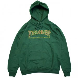 <img class='new_mark_img1' src='//img.shop-pro.jp/img/new/icons5.gif' style='border:none;display:inline;margin:0px;padding:0px;width:auto;' />THRASHER DAVIS PULLOVER HOODIE / FOREST GREEN (スラッシャー パーカー/スウェット)