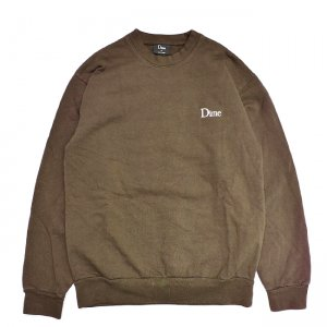 <img class='new_mark_img1' src='//img.shop-pro.jp/img/new/icons5.gif' style='border:none;display:inline;margin:0px;padding:0px;width:auto;' />DIME CLASSIC LOGO CREWNECK / BROWN (ダイム クルーネック / スウェット)