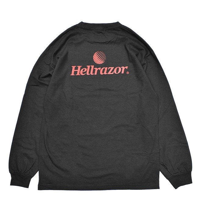 <img class='new_mark_img1' src='//img.shop-pro.jp/img/new/icons5.gif' style='border:none;display:inline;margin:0px;padding:0px;width:auto;' />HELLRAZOR TRADE MARK LOGO L/S Shirts / BLACK (ヘルレイザー ロンT/長袖Tシャツ)