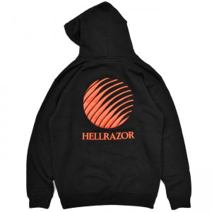 <img class='new_mark_img1' src='//img.shop-pro.jp/img/new/icons5.gif' style='border:none;display:inline;margin:0px;padding:0px;width:auto;' />Hellrazor Embroidered Logo Hoodie / BLACK (ヘルレイザー パーカー/フーディ)