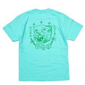 <img class='new_mark_img1' src='//img.shop-pro.jp/img/new/icons5.gif' style='border:none;display:inline;margin:0px;padding:0px;width:auto;' />HARD LUCK DOLAN TEE / TURQUOISE (ハードラック Tシャツ)