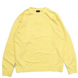 <img class='new_mark_img1' src='//img.shop-pro.jp/img/new/icons5.gif' style='border:none;display:inline;margin:0px;padding:0px;width:auto;' />WKND TONAL CREW NECK SWEAT / YELLOW PIGMENT DYED (ウィークエンド フーディ/スウェットパーカー)