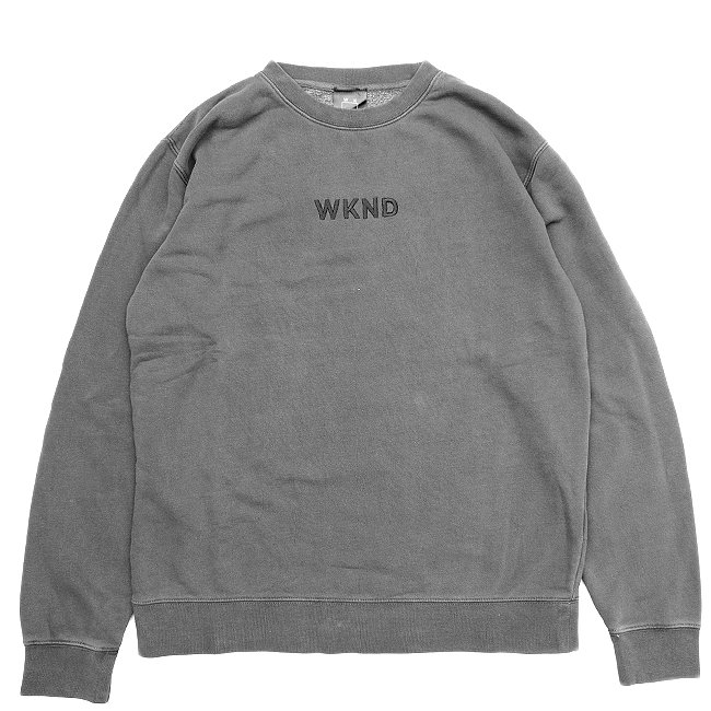<img class='new_mark_img1' src='//img.shop-pro.jp/img/new/icons5.gif' style='border:none;display:inline;margin:0px;padding:0px;width:auto;' />WKND TONAL CREW NECK SWEAT / BLACK PIGMENT DYED (ウィークエンド フーディ/スウェットパーカー)
