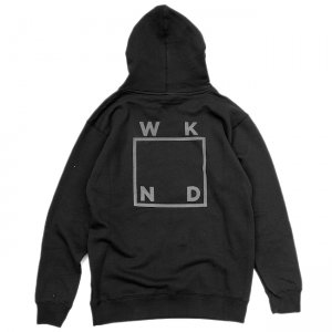 <img class='new_mark_img1' src='//img.shop-pro.jp/img/new/icons5.gif' style='border:none;display:inline;margin:0px;padding:0px;width:auto;' />WKND REFLECTIVE LOGO HOODIE / BLACK (ウィークエンド フーディ/スウェットパーカー)