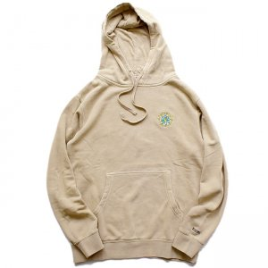 <img class='new_mark_img1' src='//img.shop-pro.jp/img/new/icons5.gif' style='border:none;display:inline;margin:0px;padding:0px;width:auto;' />SAYHELLO Embroidery Soul Garment Dyed Hoodie / Sand Stone (セイハロー パーカー/スウェット)