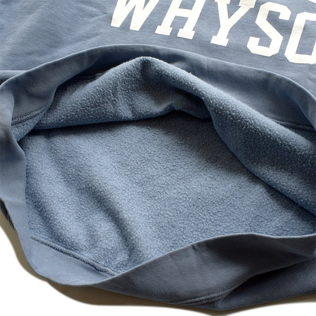 sayhello lost collage garment dyed crew neck sweats blue jean