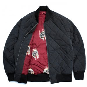 <img class='new_mark_img1' src='//img.shop-pro.jp/img/new/icons5.gif' style='border:none;display:inline;margin:0px;padding:0px;width:auto;' />HELLRAZOR NYLON QUILTED MA-1 JACKET / BLACK (ヘルレイザー キルティングジャケット/MA1)