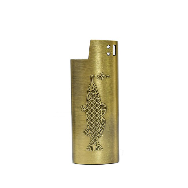 <img class='new_mark_img1' src='//img.shop-pro.jp/img/new/icons55.gif' style='border:none;display:inline;margin:0px;padding:0px;width:auto;' />Good Worth & Co. SMOKING FISH LIGHTER CASE / SMALL(アクセサリー ライターケース)