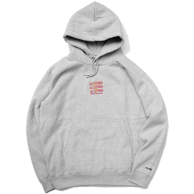 <img class='new_mark_img1' src='//img.shop-pro.jp/img/new/icons5.gif' style='border:none;display:inline;margin:0px;padding:0px;width:auto;' />SAYHELLO Jams Embroidery Heavy Hoodie / HETHER GREY (セイハロー パーカー/スウェット)