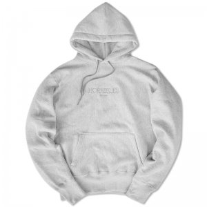 <img class='new_mark_img1' src='//img.shop-pro.jp/img/new/icons5.gif' style='border:none;display:inline;margin:0px;padding:0px;width:auto;' />HORRIBLE'S SO.LOGO CAMBER HEAVYWEIGHT HOODED  / HEATHER GREY (ホリブルズ フーディー/スウェット)