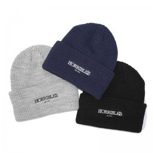 <img class='new_mark_img1' src='//img.shop-pro.jp/img/new/icons5.gif' style='border:none;display:inline;margin:0px;padding:0px;width:auto;' />HORRIBLE'S SO.LOGO KNIT BEANIE (ホリブルズ ビーニー/ニットキャップ)