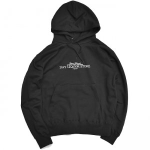 <img class='new_mark_img1' src='//img.shop-pro.jp/img/new/icons5.gif' style='border:none;display:inline;margin:0px;padding:0px;width:auto;' />DAY LIQUOR STORE LOGO HOODIE / BLACK (デイリカーストアー パーカー/スウェット)