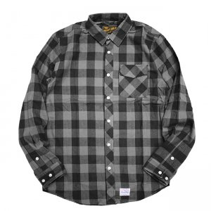 <img class='new_mark_img1' src='//img.shop-pro.jp/img/new/icons5.gif' style='border:none;display:inline;margin:0px;padding:0px;width:auto;' />BENNY GOLD SQUAW FLANNEL L/S SHIRT/ GREY (ベニーゴールド フランネルシャツ)