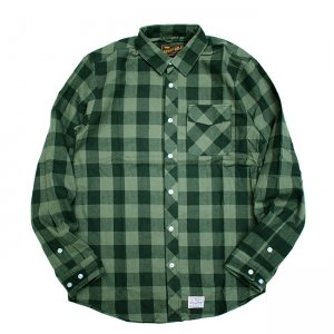 <img class='new_mark_img1' src='//img.shop-pro.jp/img/new/icons5.gif' style='border:none;display:inline;margin:0px;padding:0px;width:auto;' />BENNY GOLD SQUAW FLANNEL L/S SHIRT/ GREEN (ベニーゴールド フランネルシャツ)