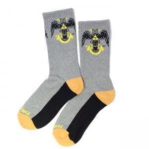 <img class='new_mark_img1' src='https://img.shop-pro.jp/img/new/icons55.gif' style='border:none;display:inline;margin:0px;padding:0px;width:auto;' />THEORIES 33rd Degrees SOCKS / GREY(セオリーズ  ソックス/靴下)