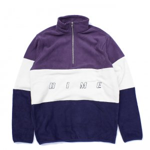<img class='new_mark_img1' src='//img.shop-pro.jp/img/new/icons5.gif' style='border:none;display:inline;margin:0px;padding:0px;width:auto;' />DIME 3TONE FLEECE JACKET / PURPLE (ダイム フリース / ジャケット)