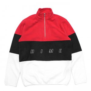 <img class='new_mark_img1' src='//img.shop-pro.jp/img/new/icons5.gif' style='border:none;display:inline;margin:0px;padding:0px;width:auto;' />DIME 3TONE FLEECE JACKET / RED (ダイム フリース / ジャケット)
