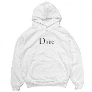 <img class='new_mark_img1' src='//img.shop-pro.jp/img/new/icons5.gif' style='border:none;display:inline;margin:0px;padding:0px;width:auto;' />DIME CLASSIC LOGO HOODIE / WHITE (ダイム パーカー / スウェット)